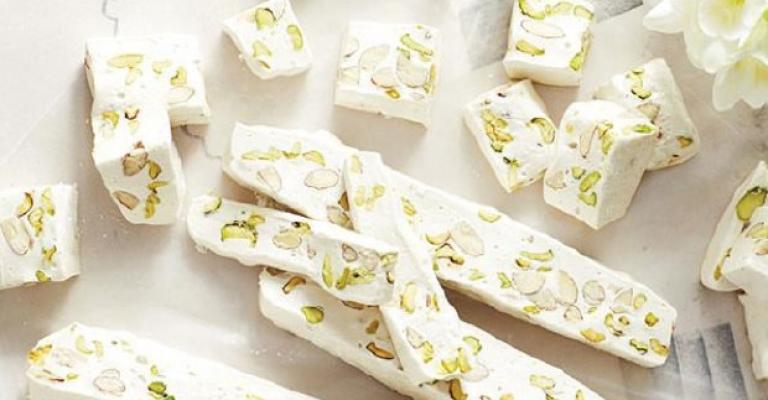 Nougat Blanc with Almonds & Pistachios